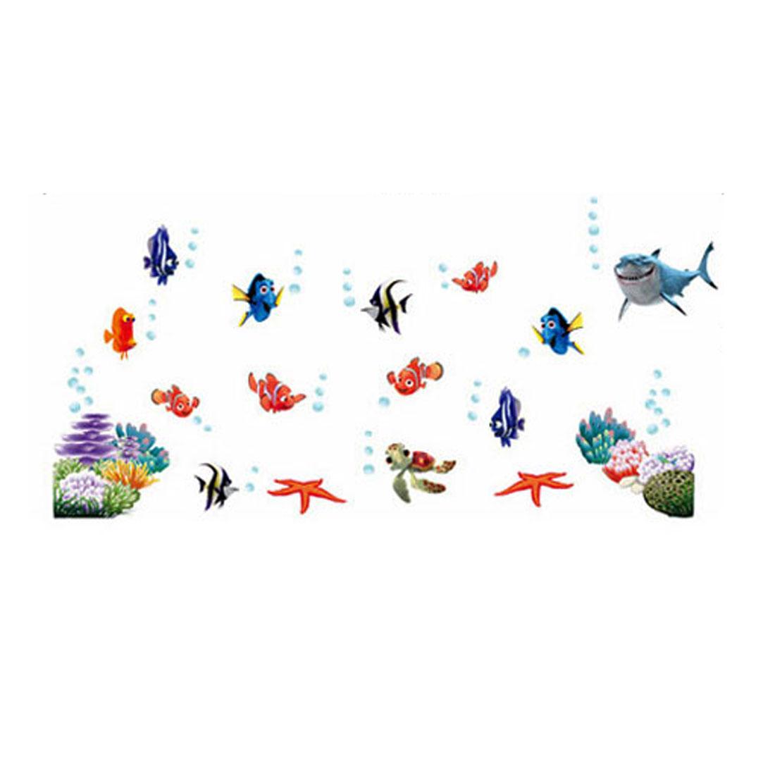 Home Decor Under Water Fish Pattern Wall Sticker Mural Art Decal