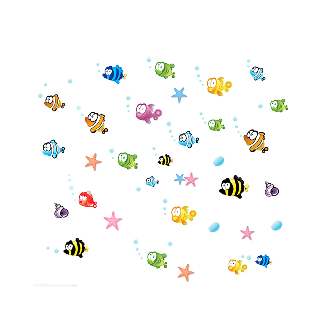 Home Room Fish Star Bubble Design Removable Wall Sticker Art Decal