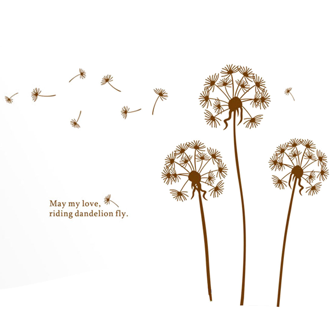 Flying Dandelion Pattern Removable Wall Sticker Decal Decoration