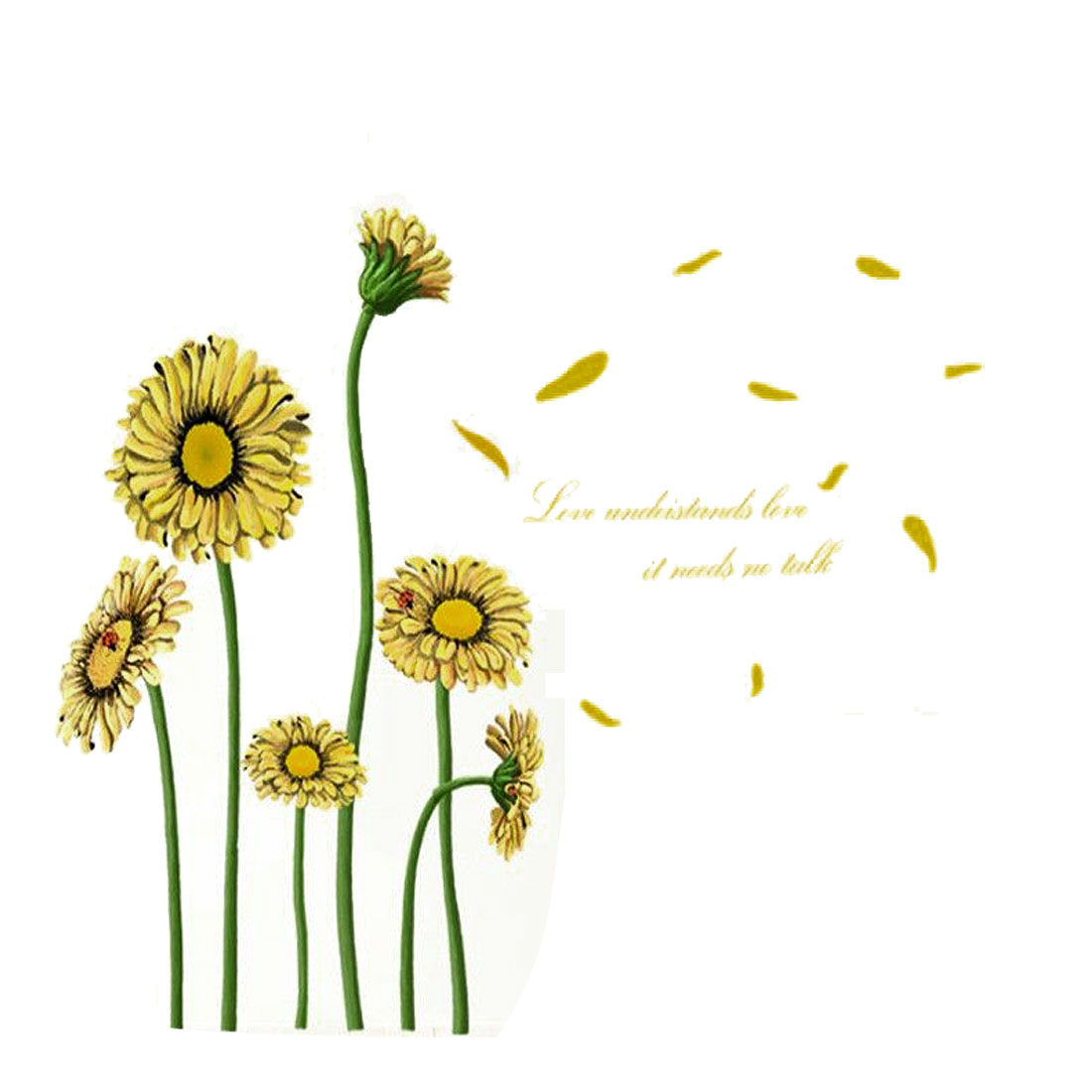 Home Room DIY Sunflower Pattern Removable Wall Decor Sticker Art Decal