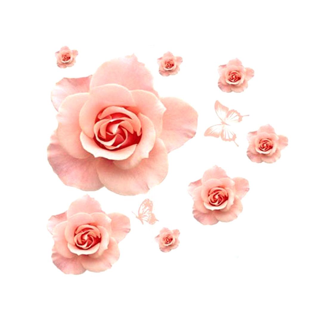 DIY Rose Flower Pattern Removable Wall Sticker Art Decal Wallpaper