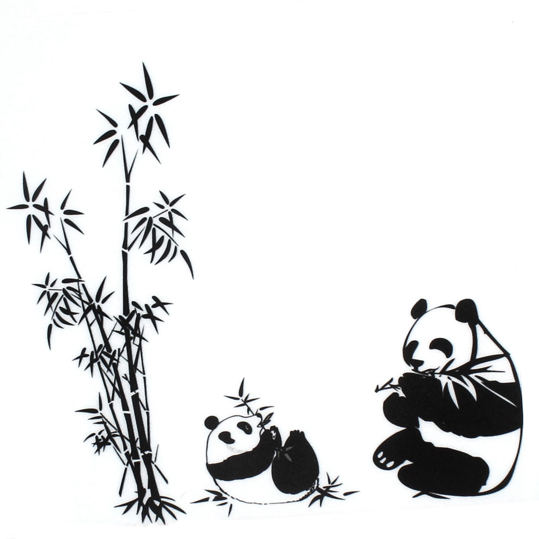 DIY Panda Bamboo Pattern Removable Wall Sticker Room Wallpaper Decor