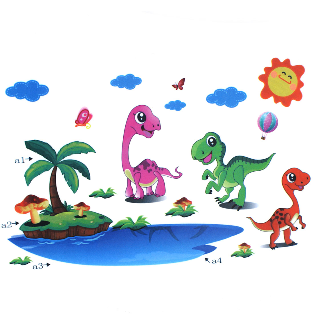 Kids Room Dinosaur Pattern PVC Removable Wall Sticker Decal Decor