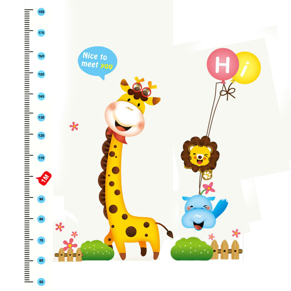 Giraffe Height Chart Measure Design Removable Wall Sticker Decal Room Decor