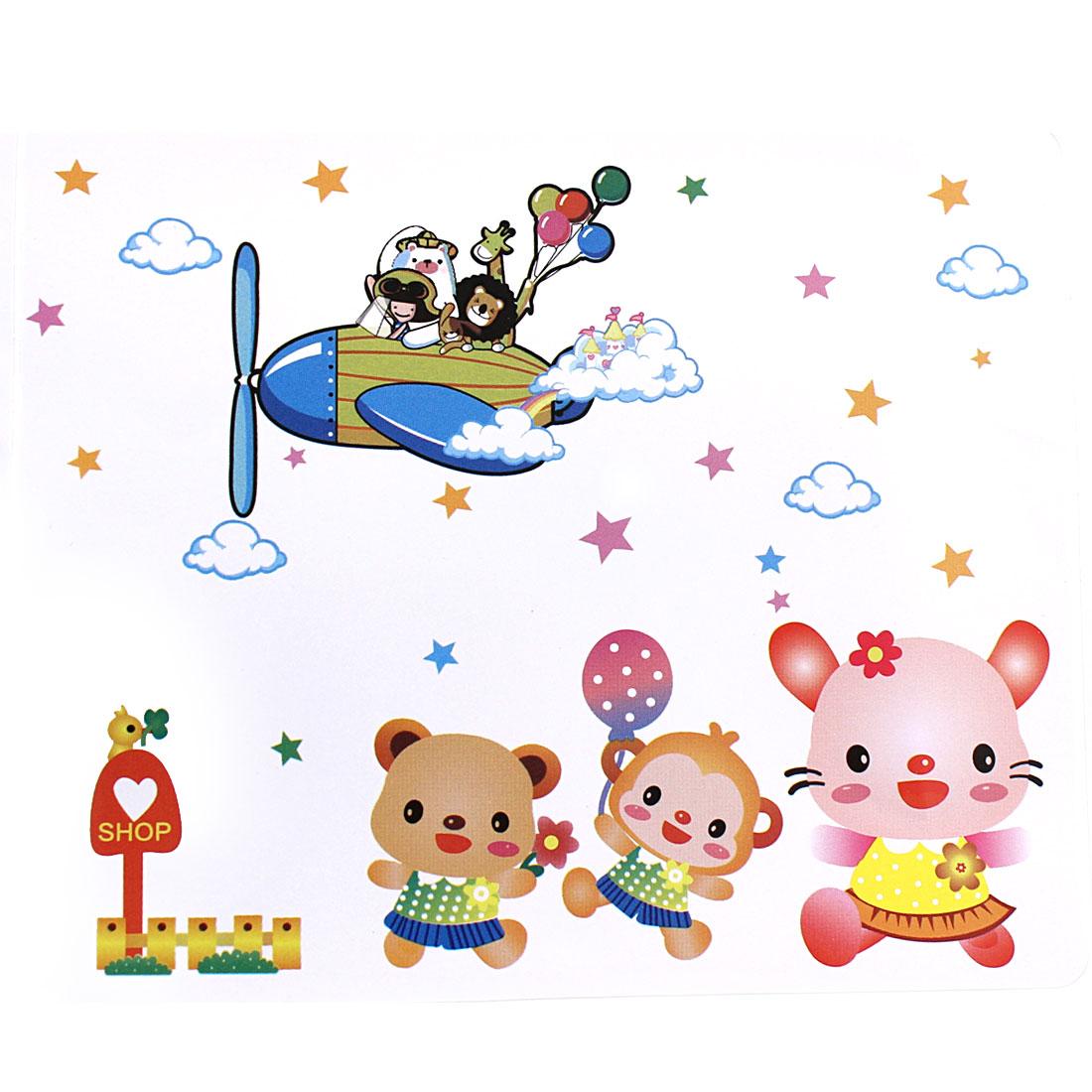 Kid Room Cartoon Bear Pattern Removable Wall Sticker Wallpaper Decor