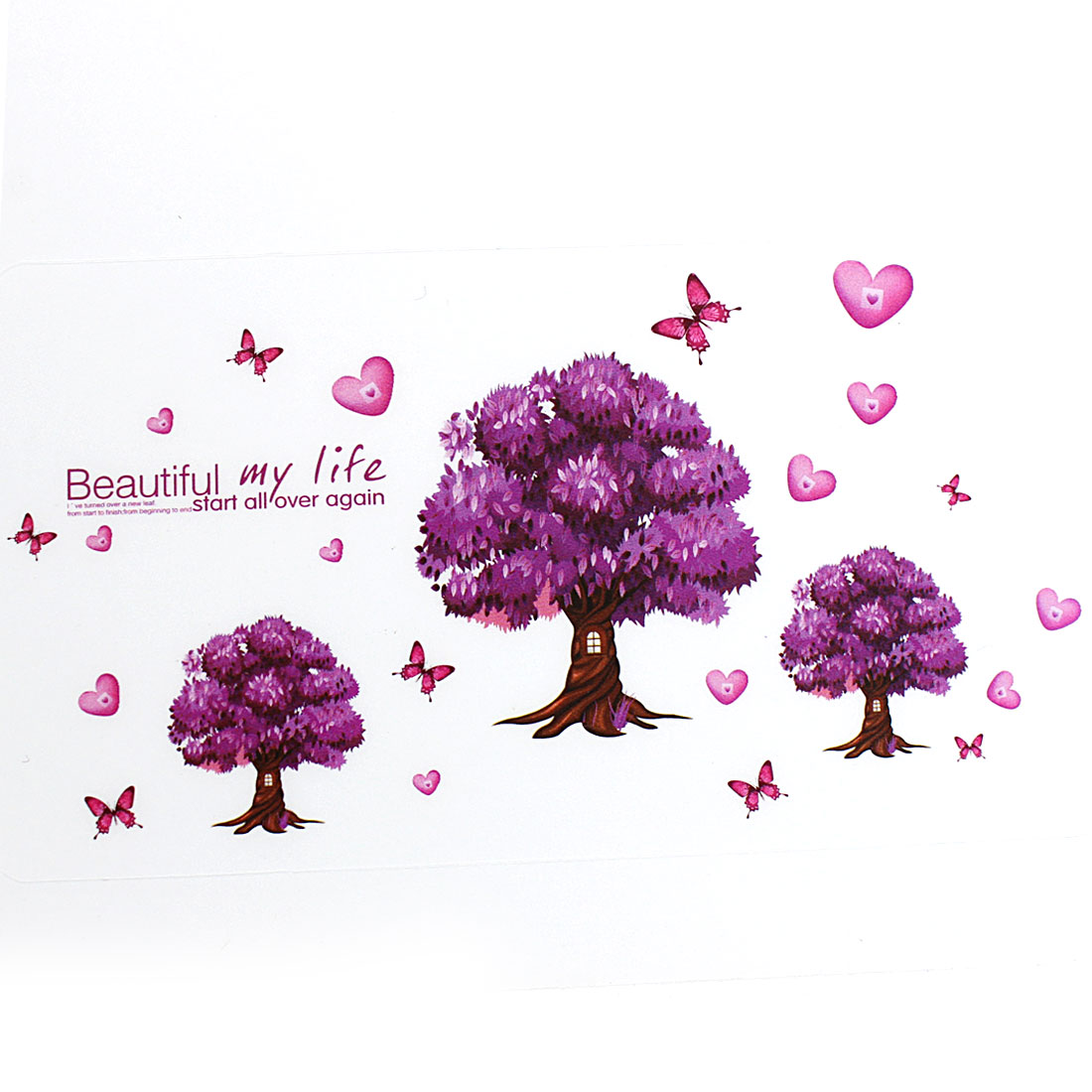 Butterfly Tree Pattern Wall Sticker Mural Decal Room Wallpaper Decor