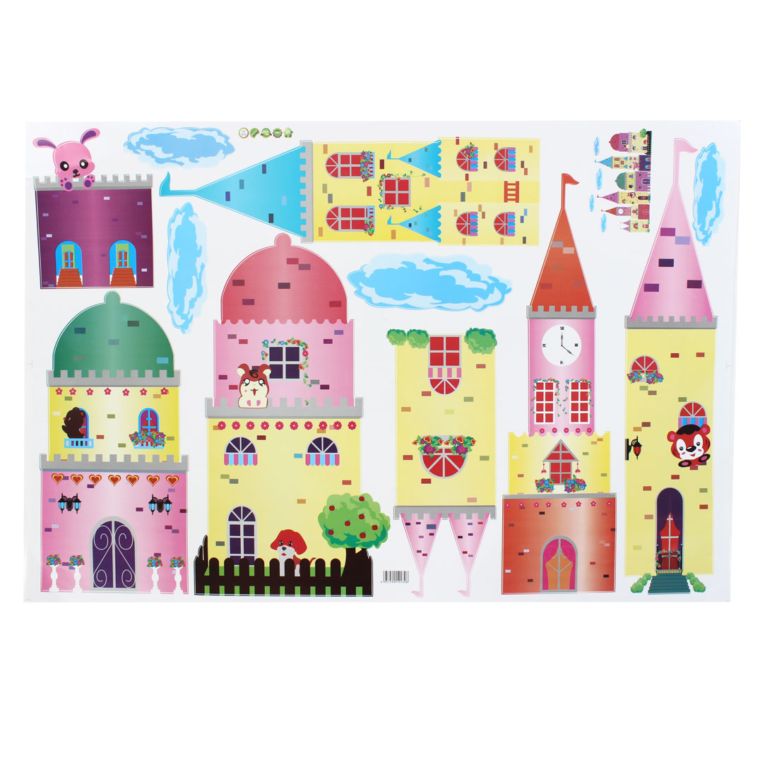 Room Cartoon Castle Pattern Wall Sticker Art Mural Wallpaper Decor