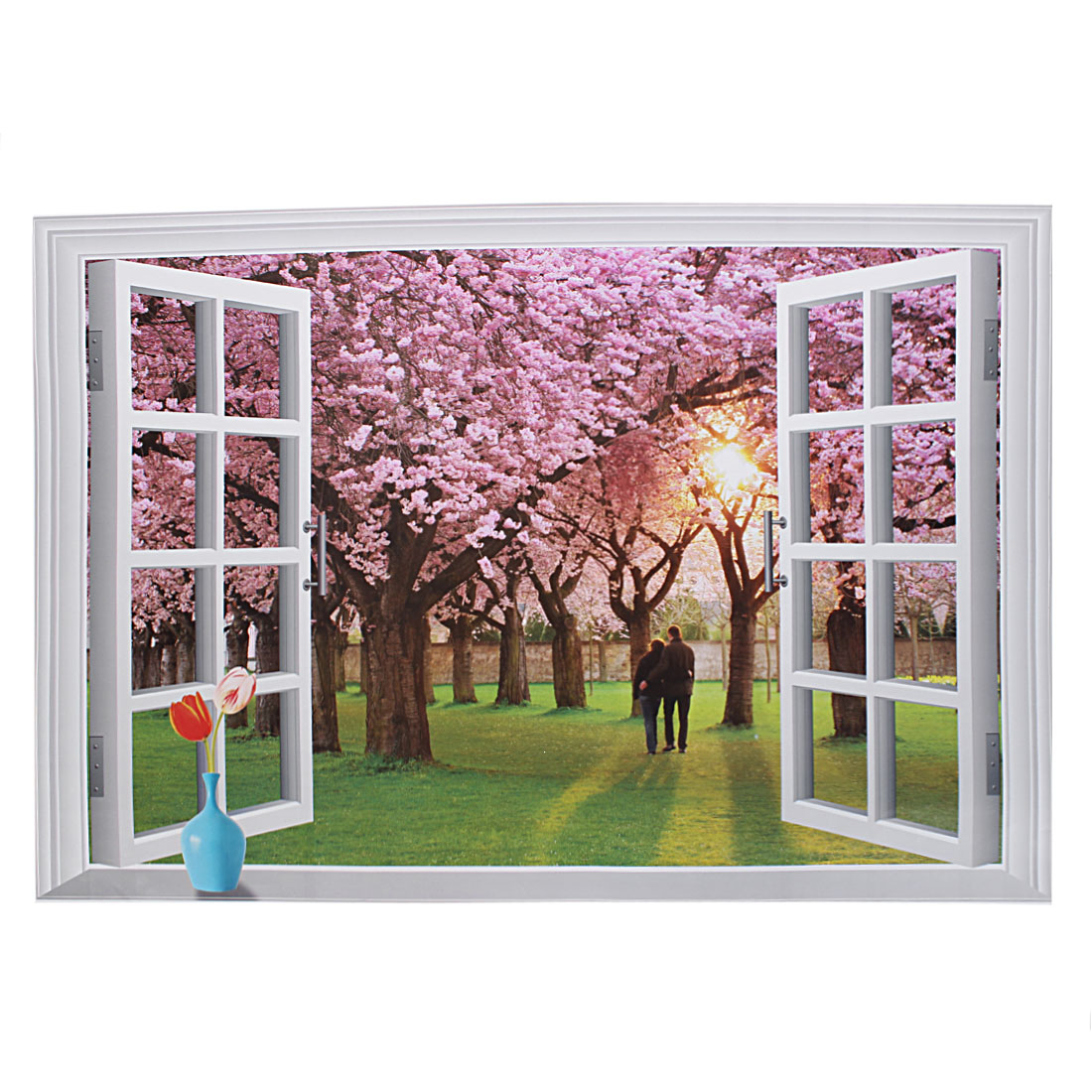 Fake Window Sight Design Removable Art Mural Wall Sticker DIY Wallpaper