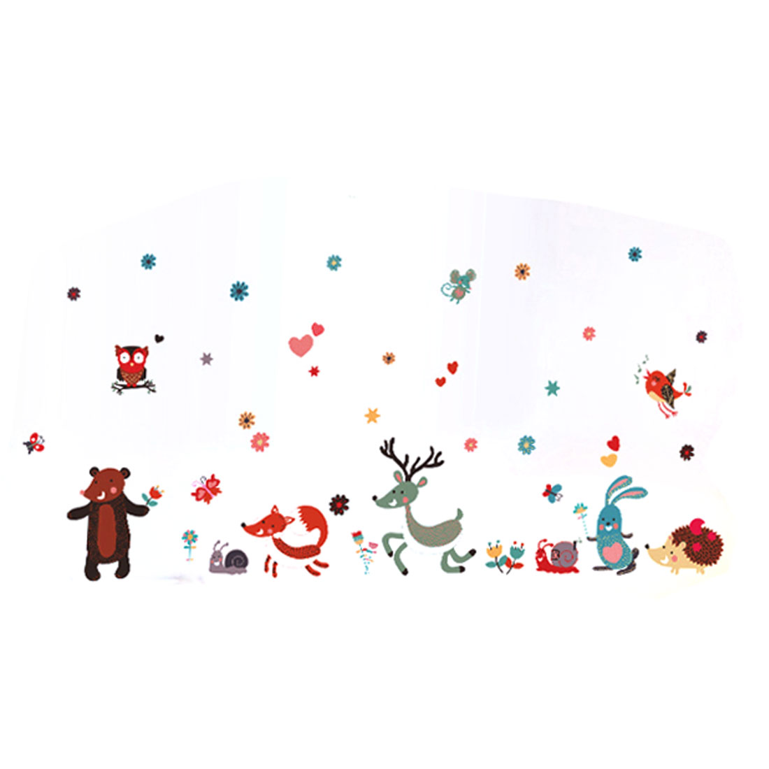 Home Kids Room Cartoon Animal Pattern Removable Wall Sticker Wallpaper