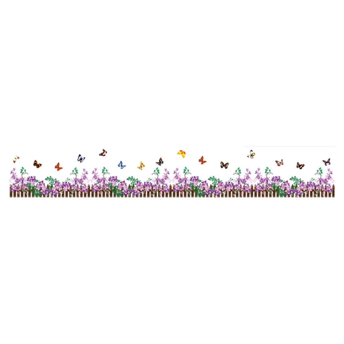 Flower Butterfly Pattern Removable Wall Sticker Mural Decal Room Decor