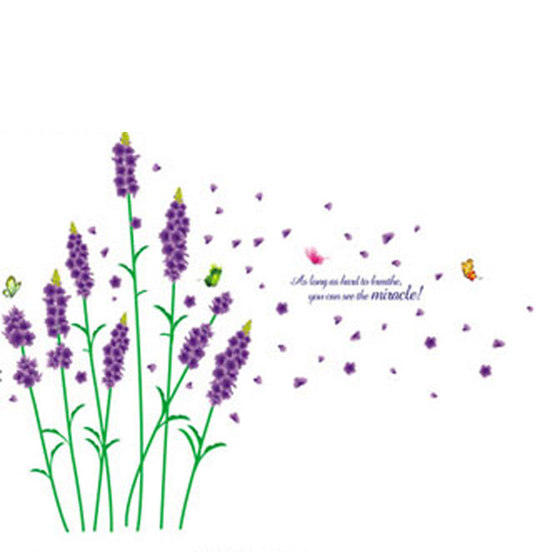 Purple Lavender Flower Pattern Removable Art Wall Sticker Decal Room Decor