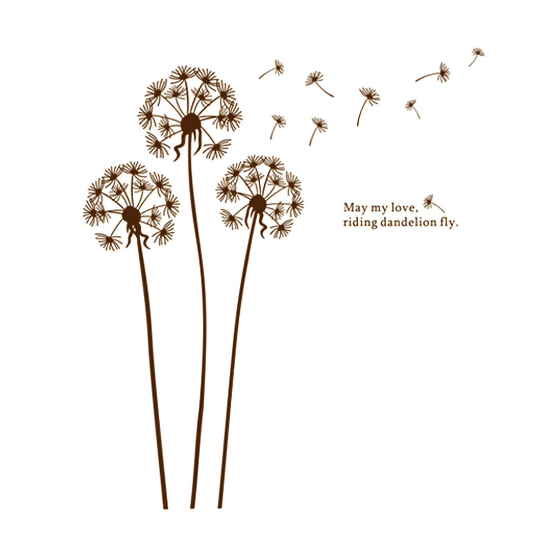 DIY Flying Dandelion Removable Wall Sticker Room Decal Decor