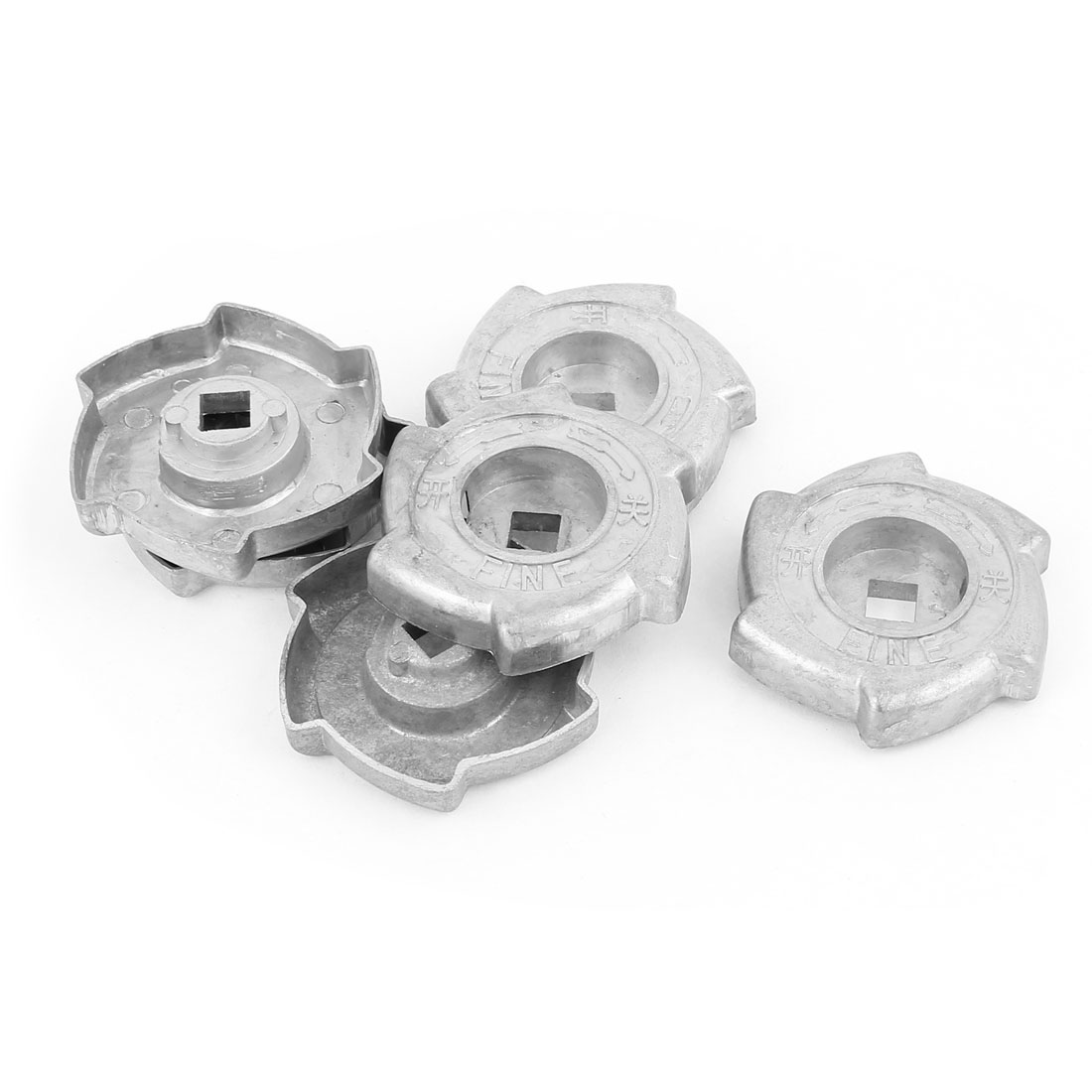 Family Handy Tool Kitchen Gas Stove Range Cooktop Alloy Rotary Switch Knob Gray 6 Pcs