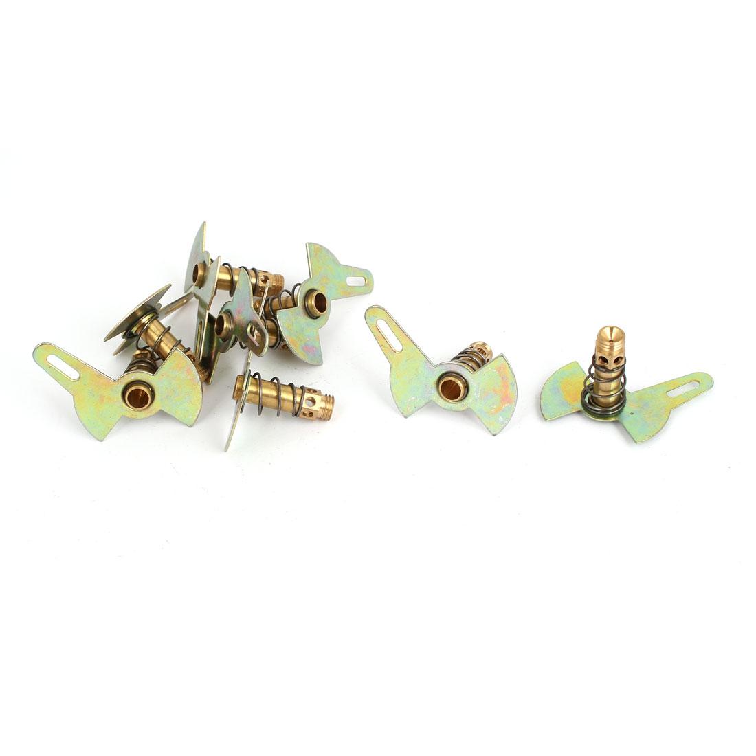 Liquefied Natural Gas Stove Burner Cooker Single Leaf Nozzle Bronze Tone 8Pcs