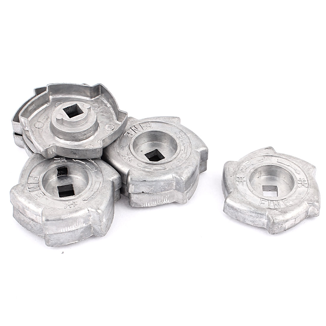 Family Handy Tool Kitchen Gas Stove Range Cooktop Alloy Rotary Switch Knob Gray 8 Pcs
