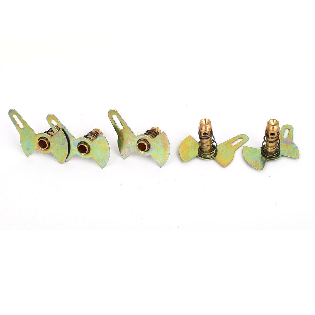 Single Leaf Liquefied Natural Gas Stove Burner Cooker Nozzle Bronze Tone 5Pcs