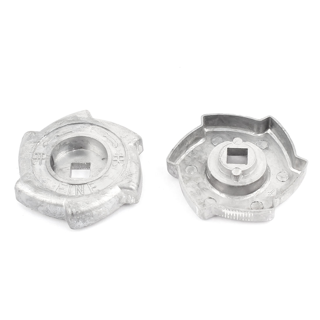 Family Handy Tool Kitchen Gas Stove Range Cooktop Alloy Rotary Switch Knob Gray 2 Pcs