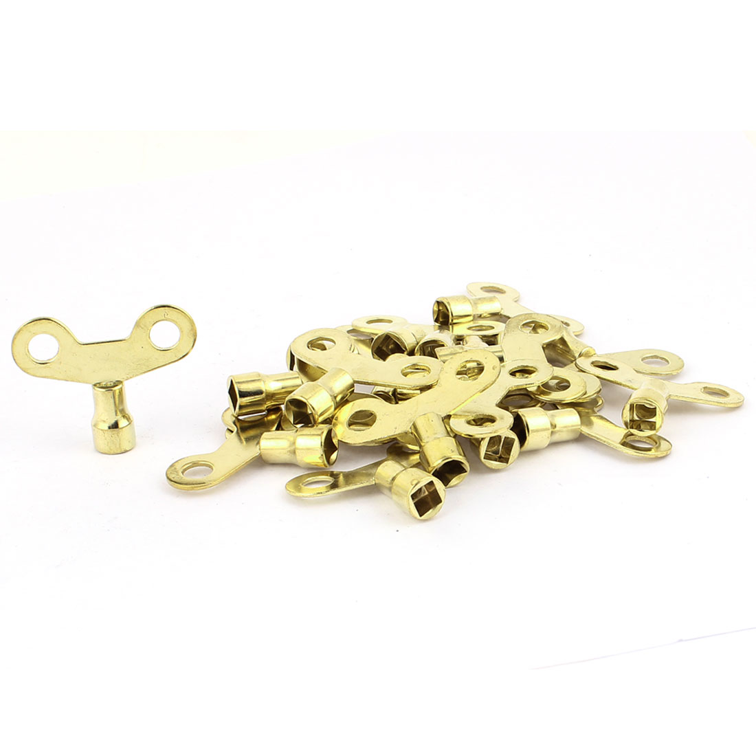 6mm x 6mm Square Socket Hole Water Tap Faucet Key Knob Switch Gold Tone 20 Pcs