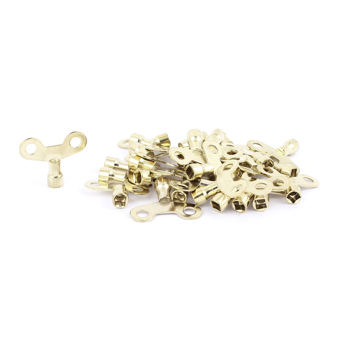 6mm x 6mm Square Socket Hole Water Tap Faucet Key Knobs Switch Gold Tone 30 Pcs