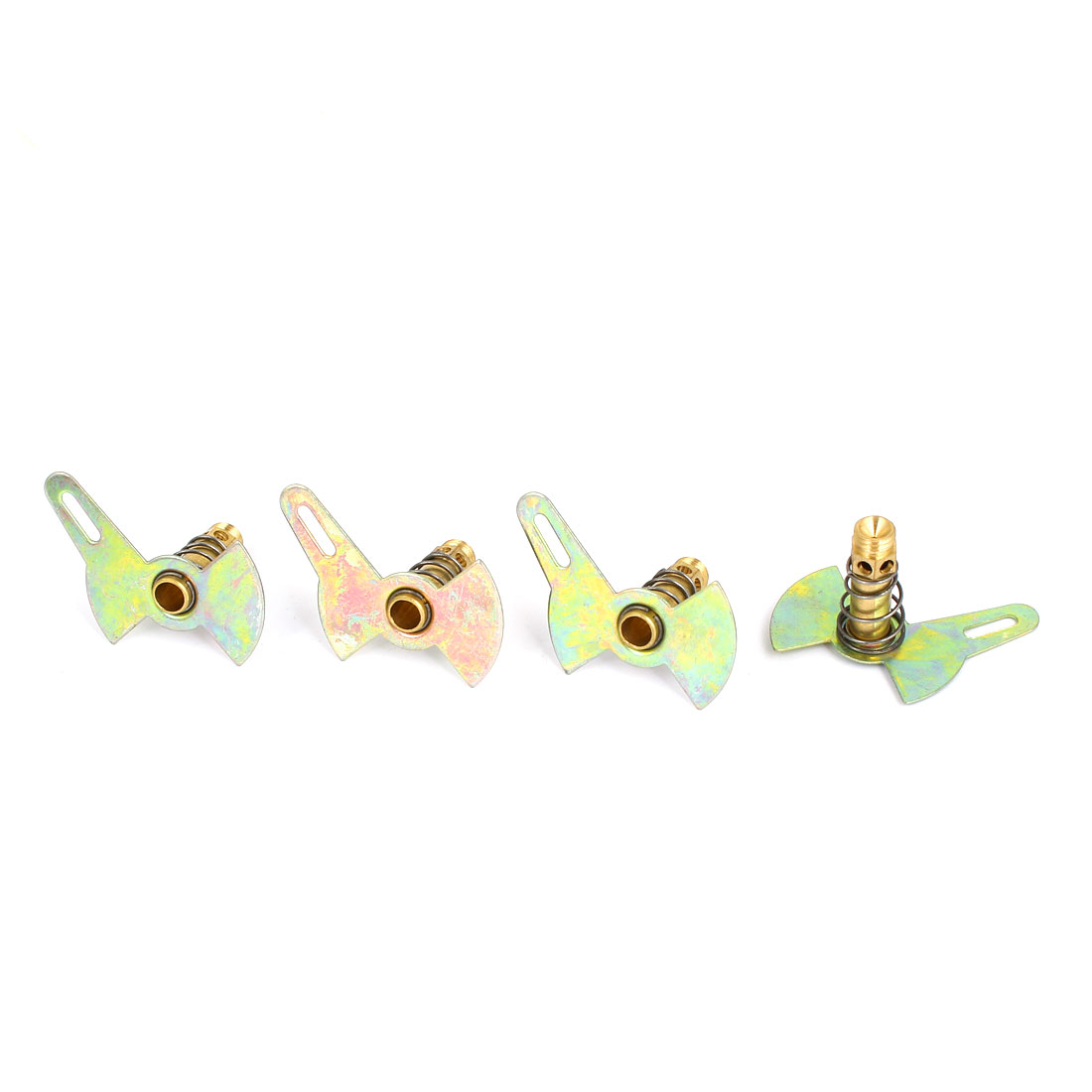 Liquefied Natural Gas Stove Burner Cooker Single Leaf Nozzle Bronze Tone 4Pcs