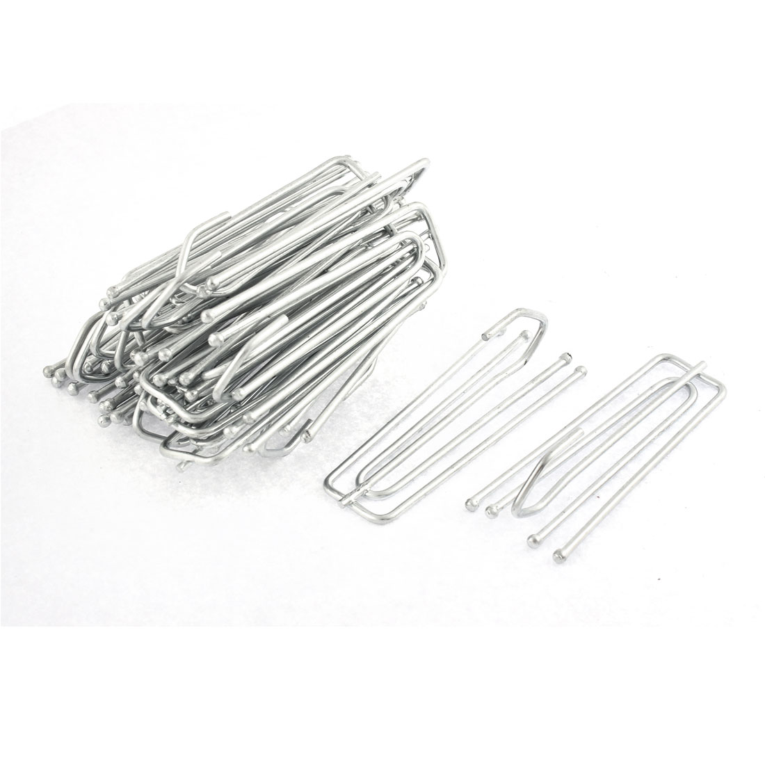 Metal 4 Prongs Pinch Pleat Drapes Curtain Hooks 7cm x 2.4cm 20Pcs