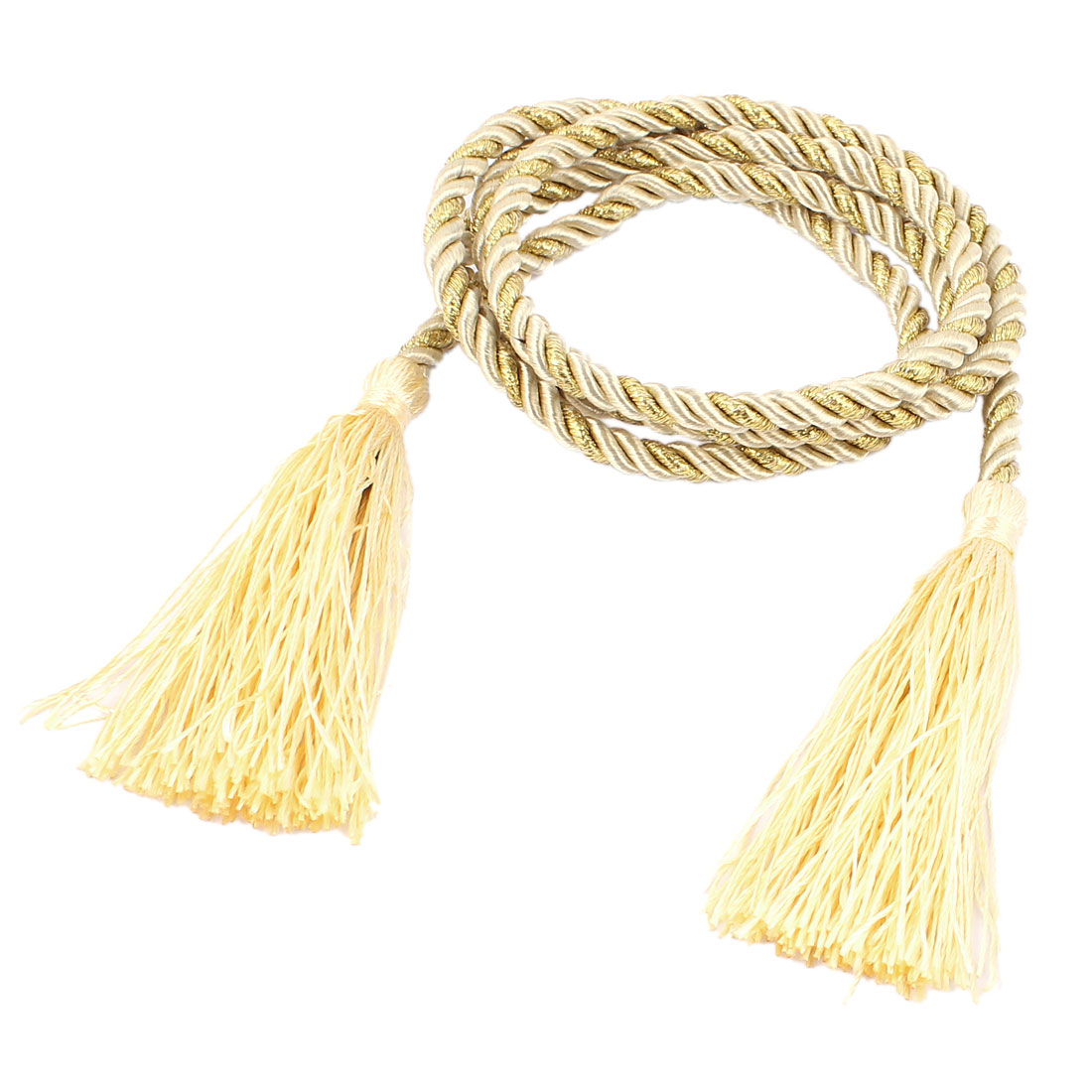 Window Curtain Tieback Tie Back Tassels Trim Rope Cord String 133cm Yellow