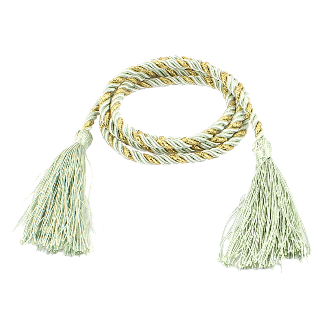 Window Curtain Tieback Tie Back Tassels Trim Rope Cord String 133cm Green