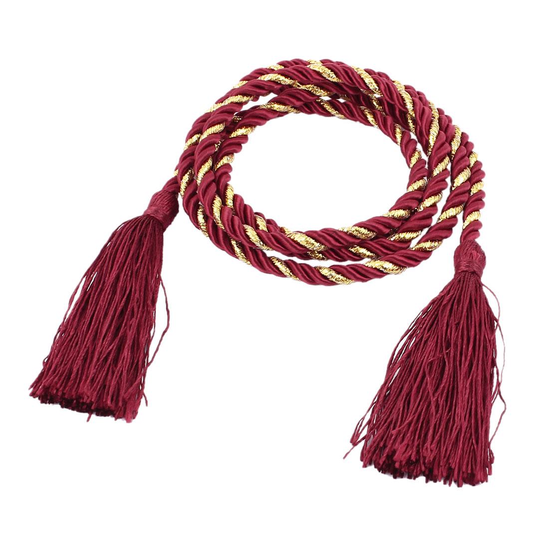 Window Curtain Tieback Tie Back Tassels Trim Rope Cord String 133cm Red