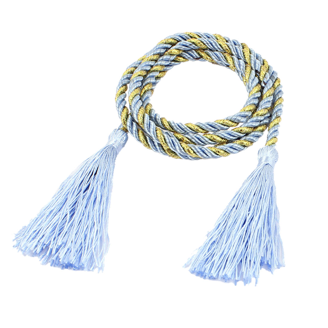Window Curtain Tieback Tie Back Tassels Trim Rope Cord String 133cm Blue