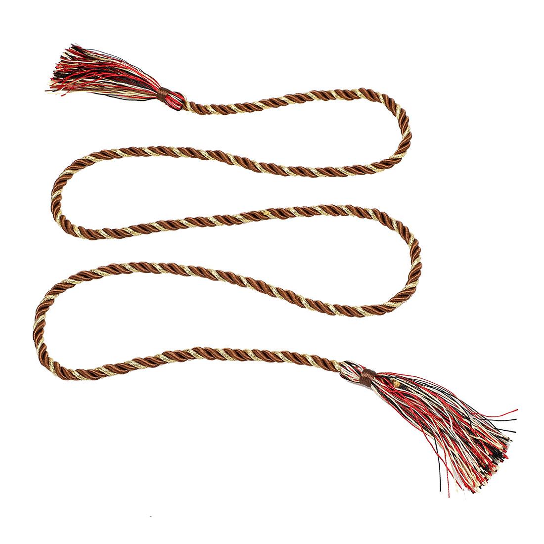 Window Curtain Tieback Tie Back Tassels Trim Rope Cord String 133cm Multicolor