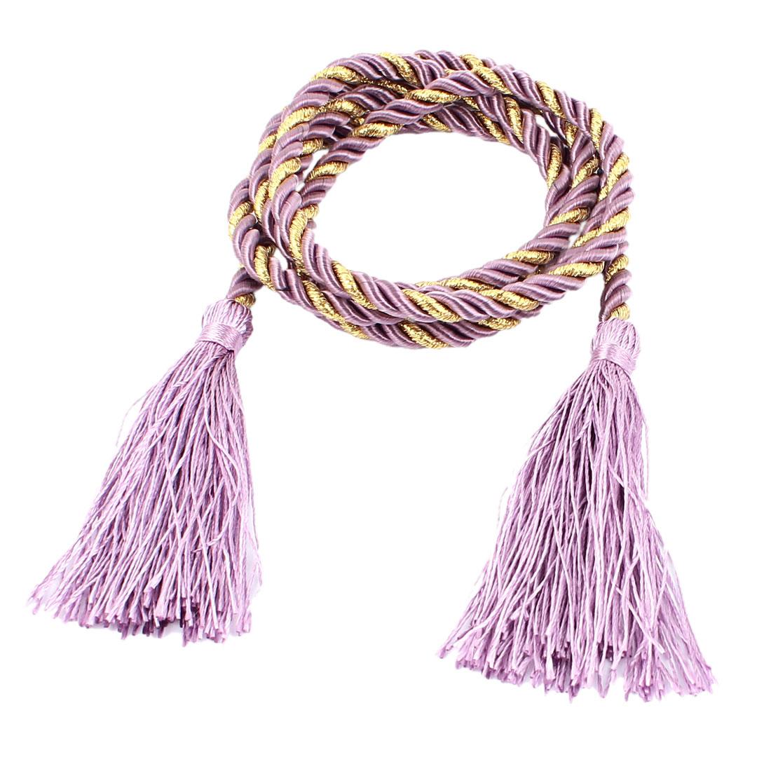 Window Curtain Tieback Tie Back Tassels Trim Rope Cord String 133cm Purple