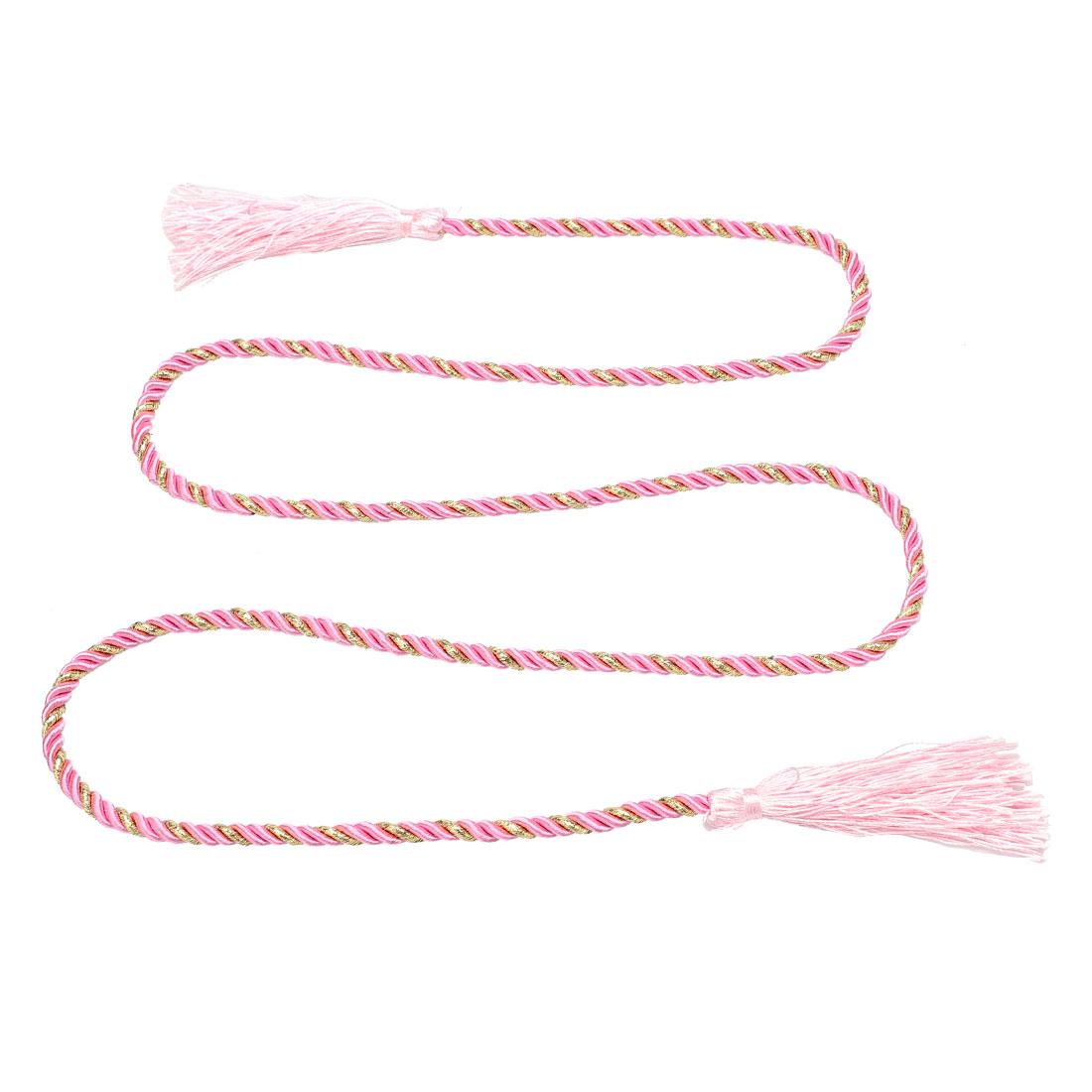 Window Curtain Tieback Tie Back Tassels Trim Rope Cord String 133cm Pink