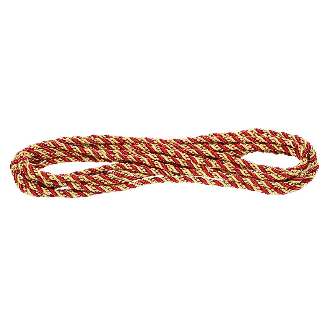 Window Curtain Twisted Braid Trim Rope Cord String 5M 5.5 Yards Red