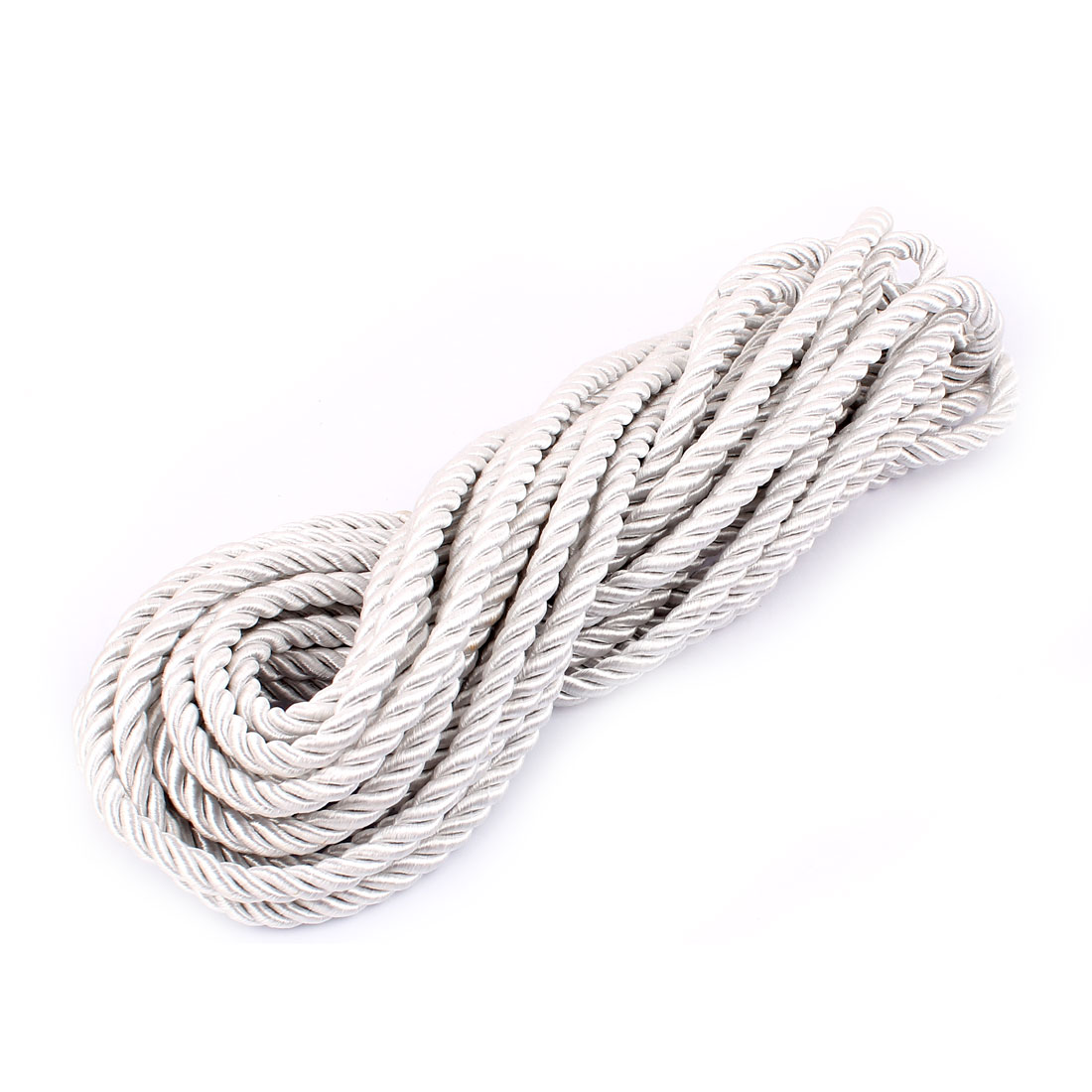 Window Curtain Twisted Braid Trim Rope Cord String 10M 11 Yards Silver Gray
