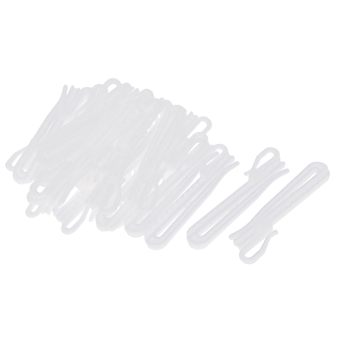 25Pcs Plastic Adjustable Depth Pinch Pleat Locking Curtain Tape Clip Hooks 9cm
