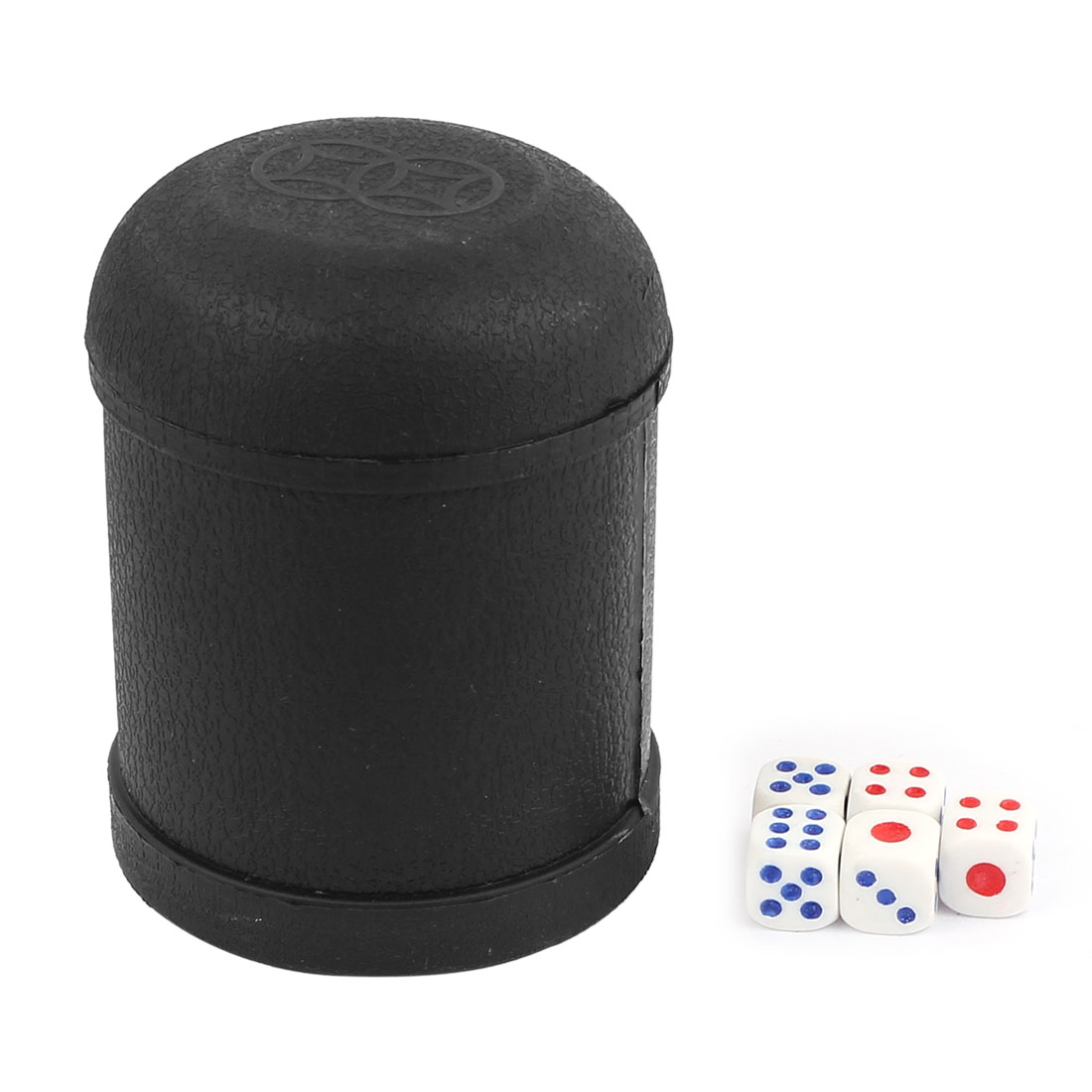 Pub Bar KTV Casino Lucky Games Plastic Shaker Cup Black w Dices
