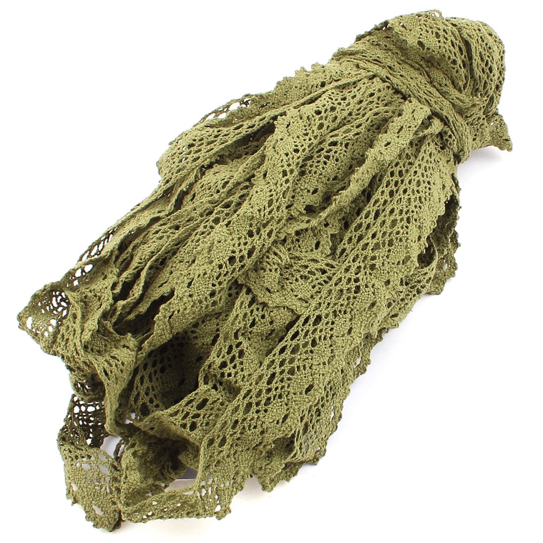 30M Handicraft DIY Craft Embroidered Net Lace Trim Ribbon Forest Green
