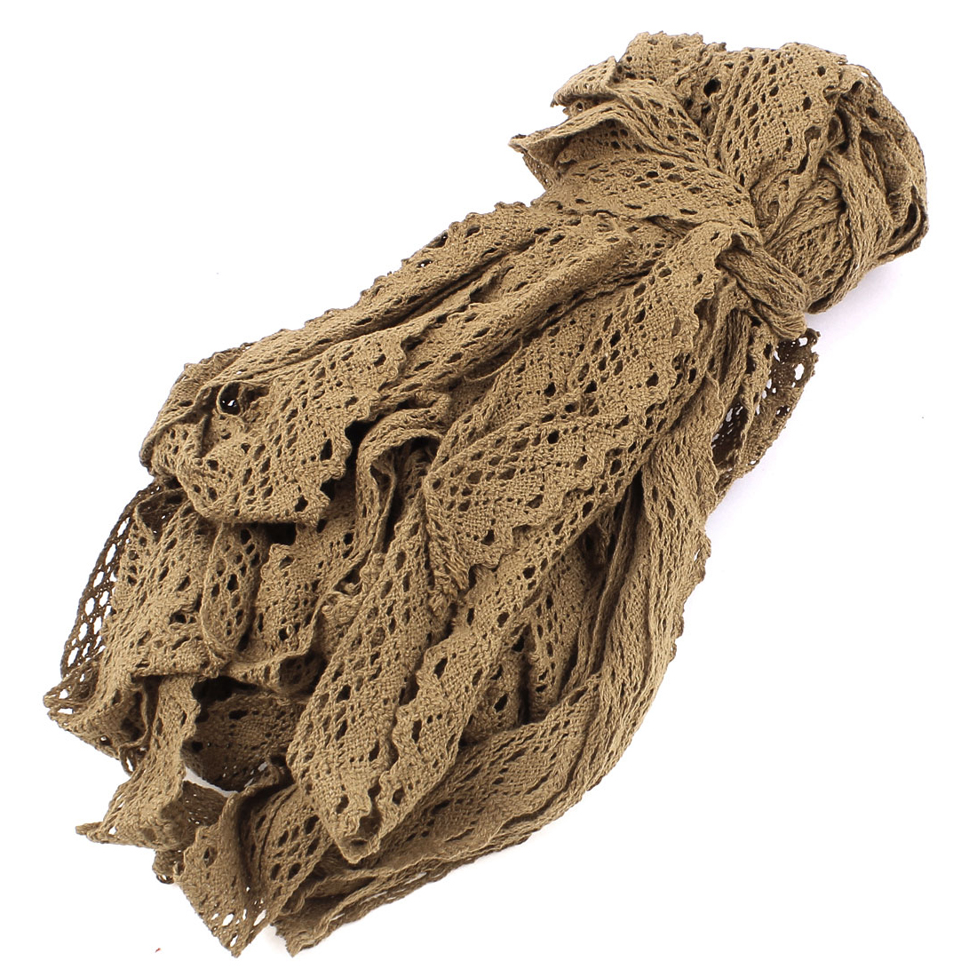 30M Handicraft DIY Craft Embroidered Net Lace Trim Ribbon Coffee Color