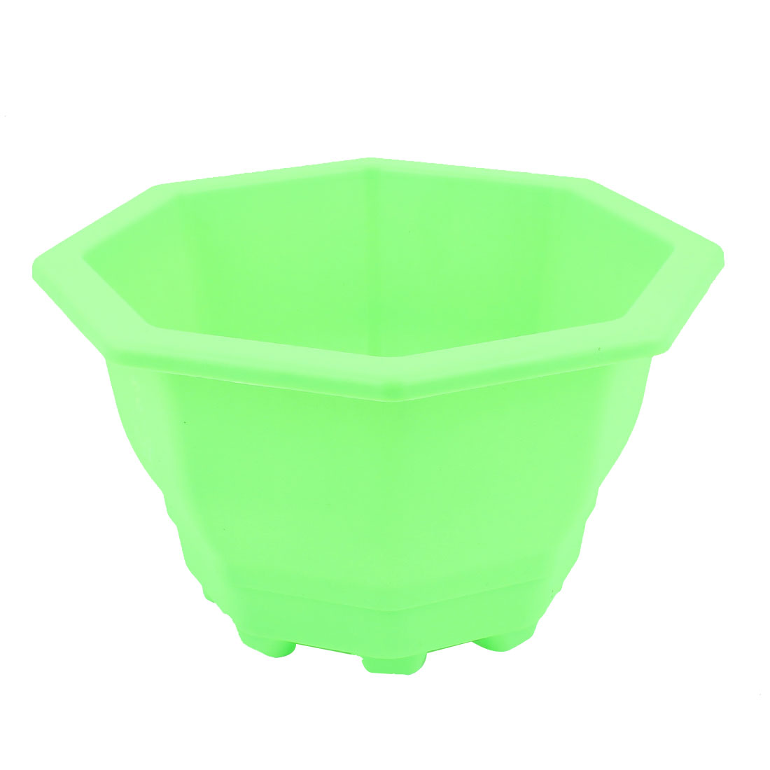 Plastic Octagon Shaped Office Home Garden Window Decor Plant Flower Pot Green