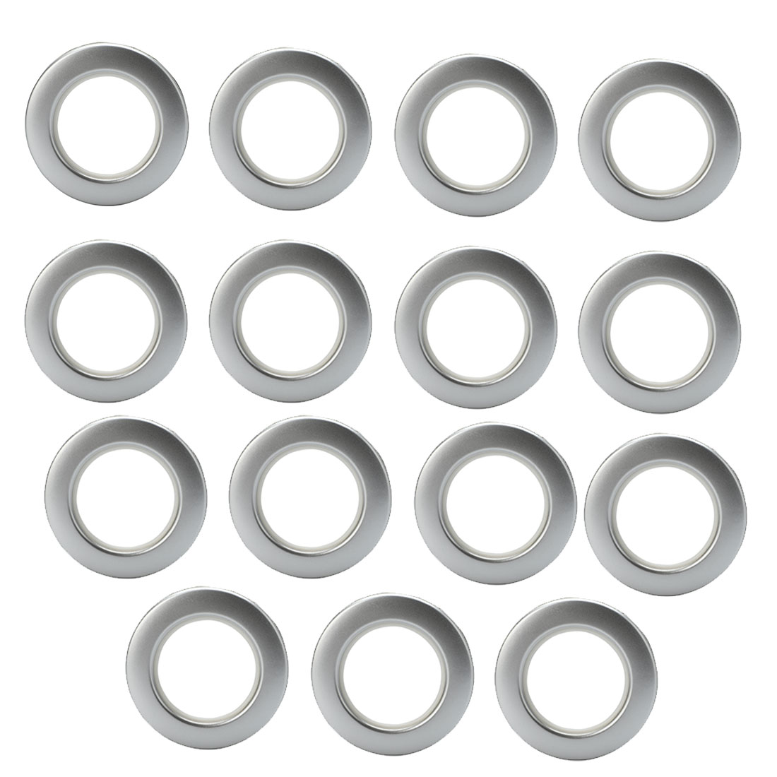 Bathroom Shower Window Curtain Ring Hook Sliding Hanging Hangers Silver Tone 15Pcs