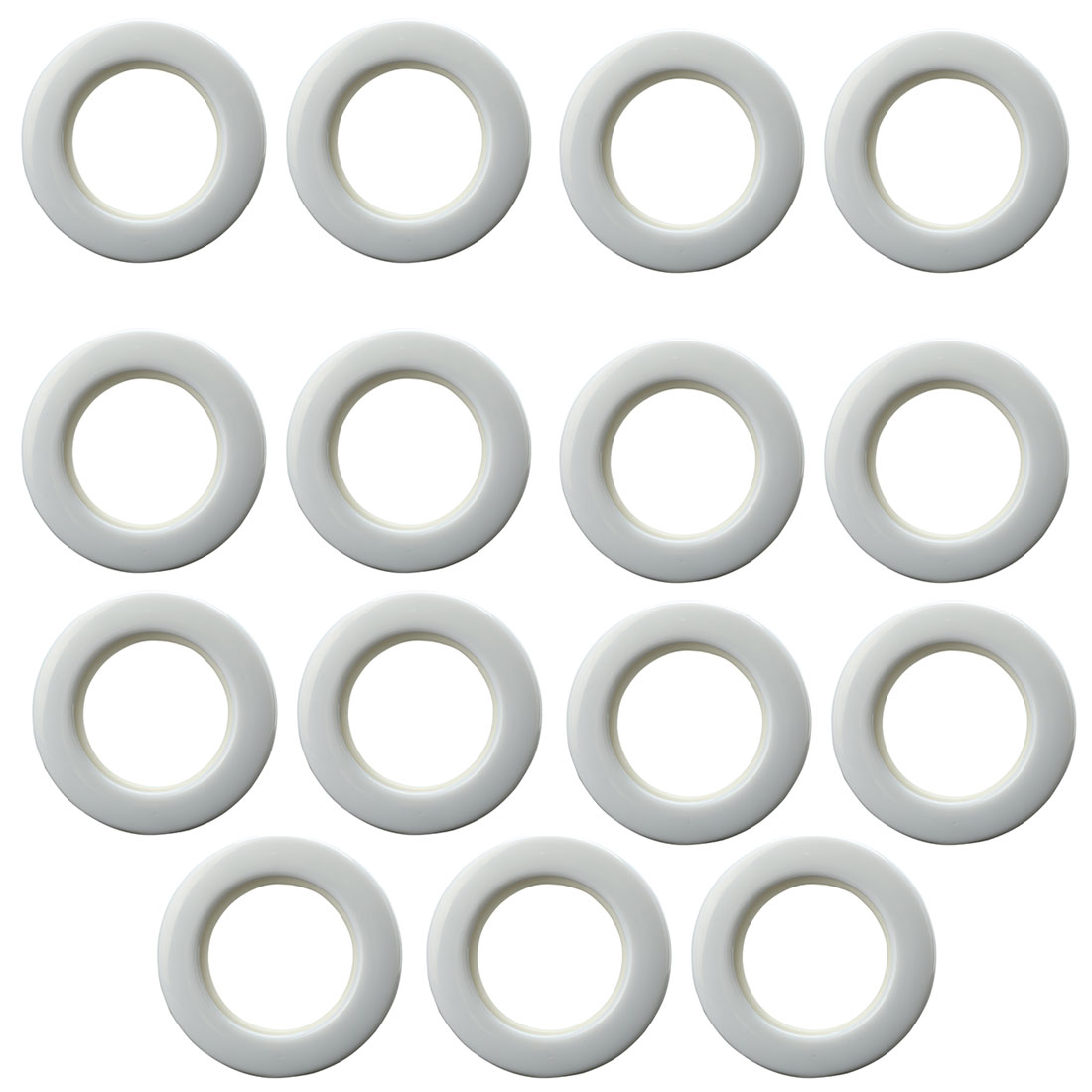 Bathroom Shower Window Curtain Ring Hook Sliding Hanging Hangers White 15Pcs