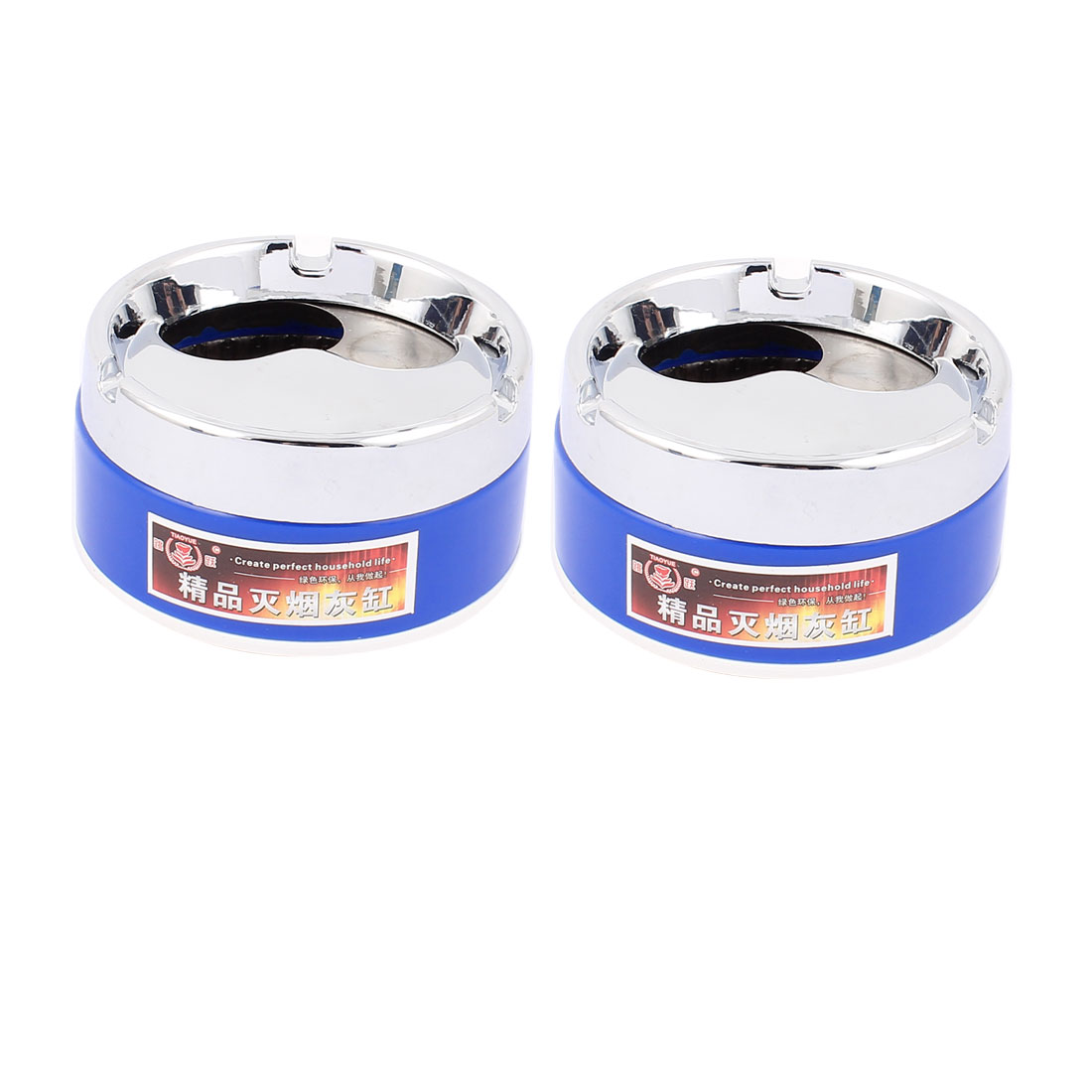 Cylinder Shape Tobacco Cigarette Ashtray Holder Case Container 2pcs