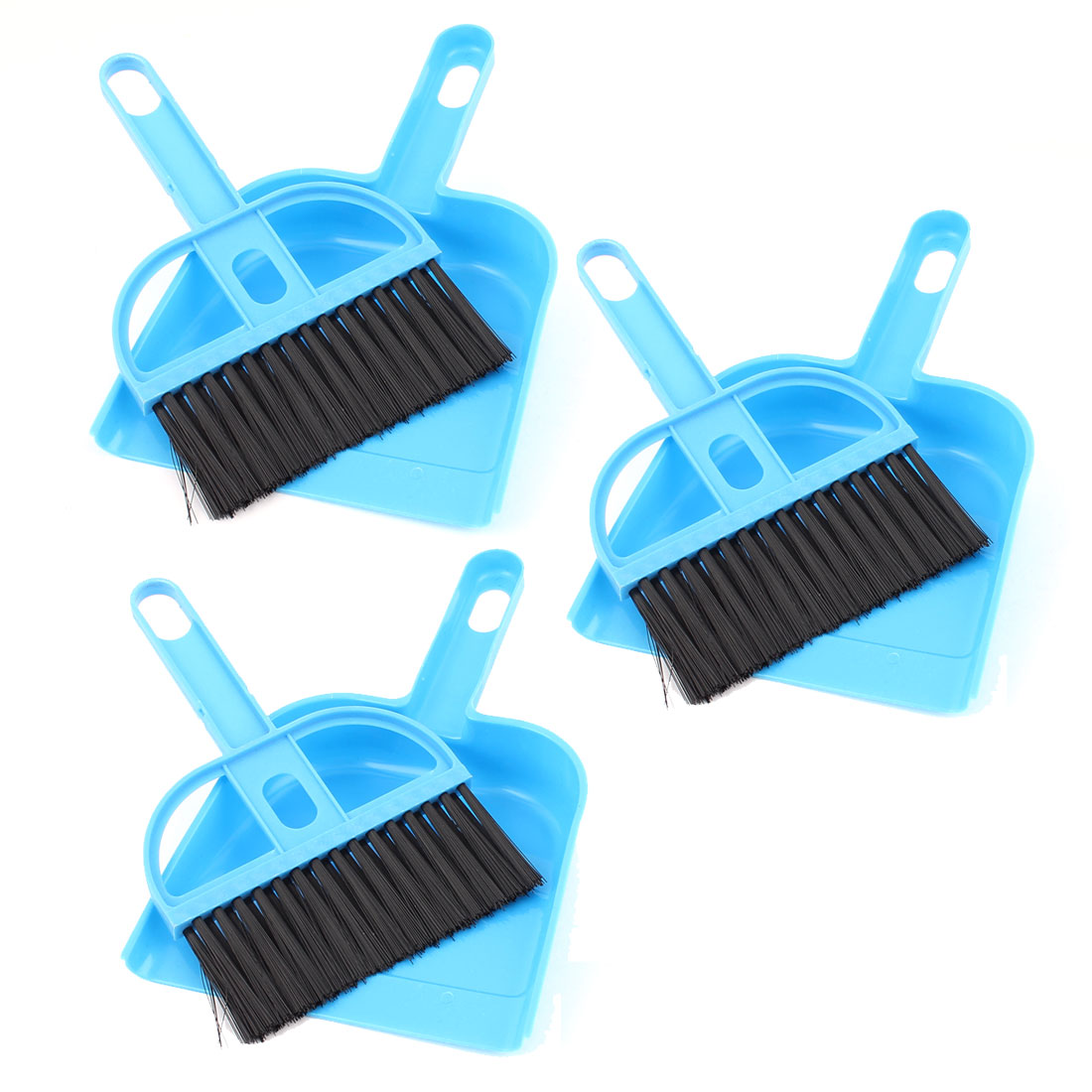 Keyboard Air Outlet Vent Cleaning Sweeping Brush Dustpan Blue 3 Sets