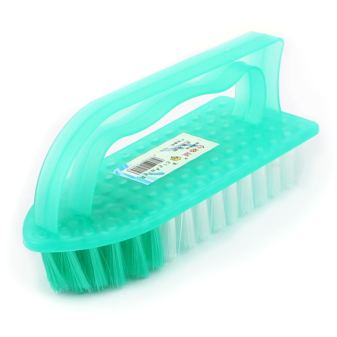 Plastic Shell Ship Shape Clothes Shoes Floor Housework Cleaning Brush Green