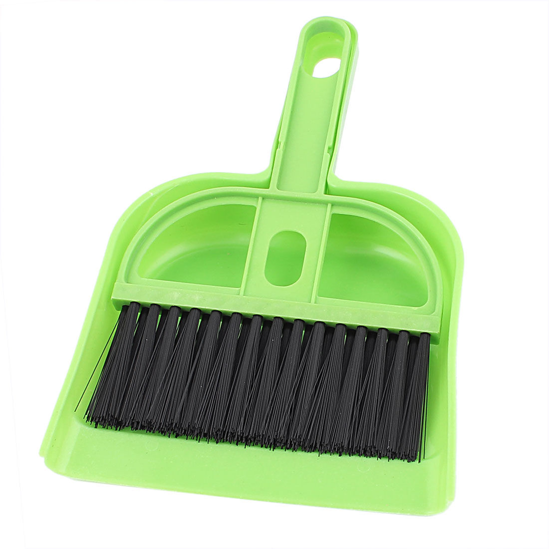 Keyboard Dashboard Console Vent Air Outlet Cleaner Brush Broom Dustpan Set Green