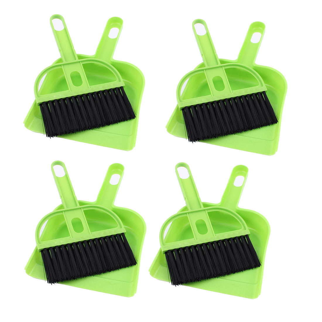 Computer Keyboard Car Window Fans Leaf Cleaner Cleaning Tool Brush Dustpan Green 4 Sets