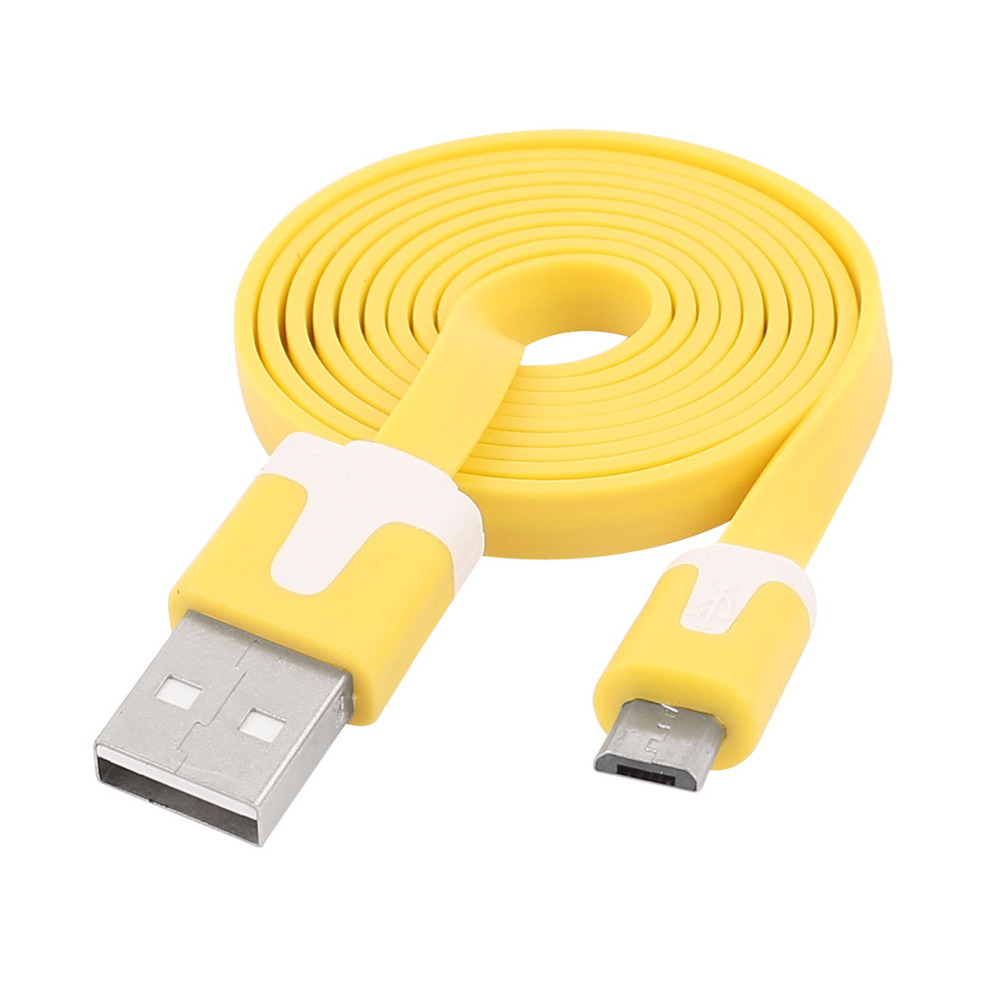 1M USB 2.0 Type A Male to Micro 5 Pin USB Male M/M PC Data Changer Cable Line Yellow