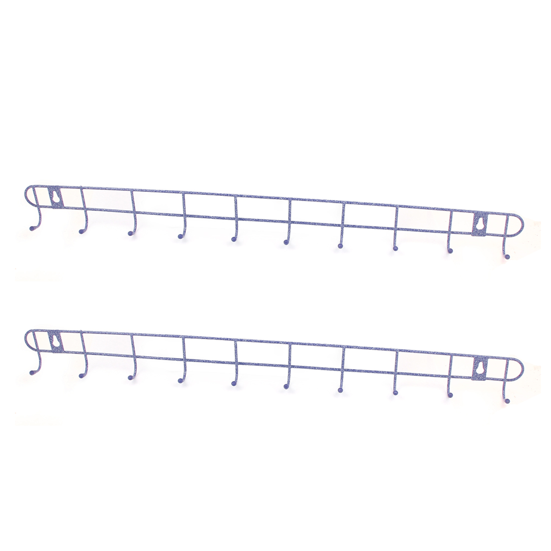 Metal 10 Hooks Bedroom Bathroom Kitchen Hat Coat Towels Wall Hanger Rack Holder Purple 2PCS