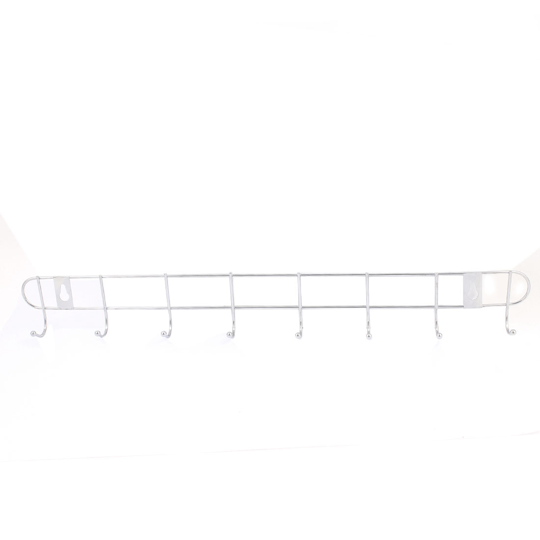 Home Bedroom Bathroom Hat Coat Towel Wall Mounted Metal 8-Hooks Hanger Rack Holder