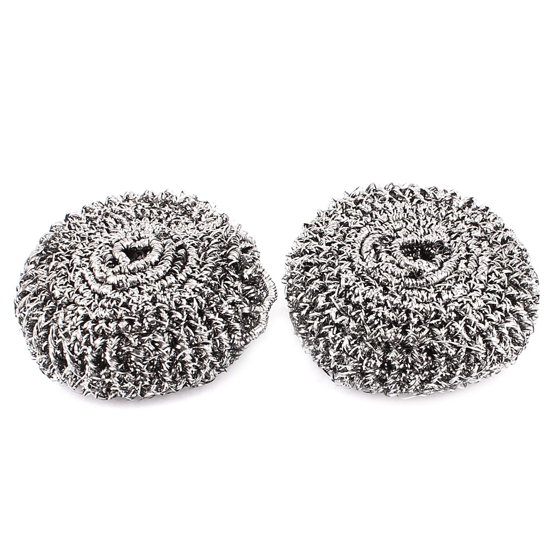 2 Pcs Stainless Steel Spiral Scourer Scrubber Heavy Dirty Pan Cleaning Pad Tool